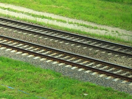 Railway tracks parallel to each other Imagens