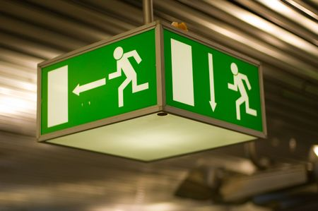 emergency exit sign  Stock Photo - 4090494
