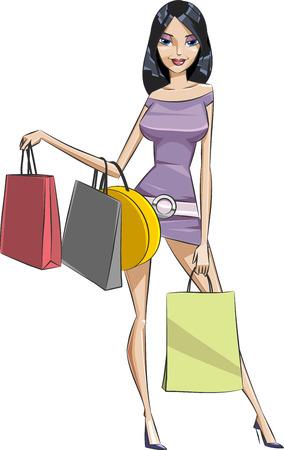 шопоголика: Покупки девушка