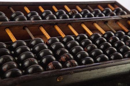 computations: Closeup of a vintage abacus Stock Photo