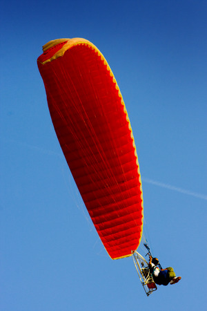 paraglide:  paramotor and the sky