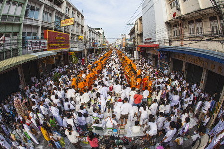gautama: Alms giving-ceremony - Thousands of monks celebrate the enlightenment of Siddhartha Gautama, which dates back 2600 years ago Editorial