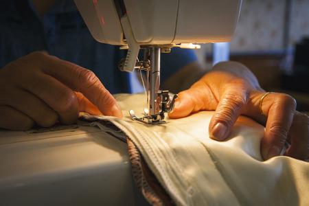 textile machine: The Sewing Machine Stock Photo