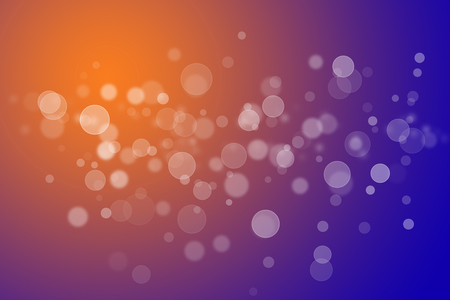 abstract background bokeh circles for blue and yellow background Stock Photo