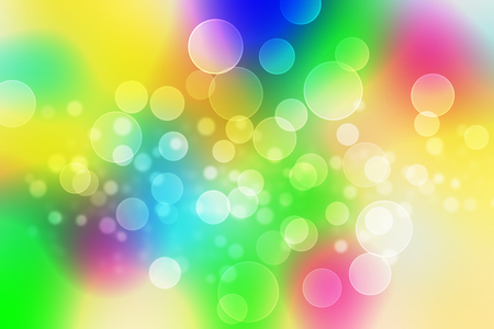 abstract background bokeh circles for Rainbow background