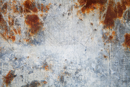Rusty zinc texture.