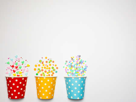 Polka dot party paper cup