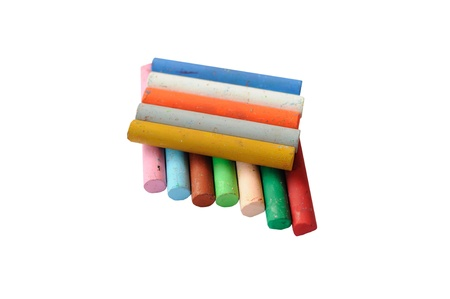 stimuli: Colored chalk for drawing writing skills of children. Stock Photo
