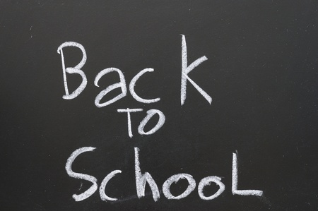 Message back to school Represents a return to education. Stock Photo - 9005109