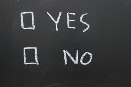 questionnaire: Check the box for the answer yes or no