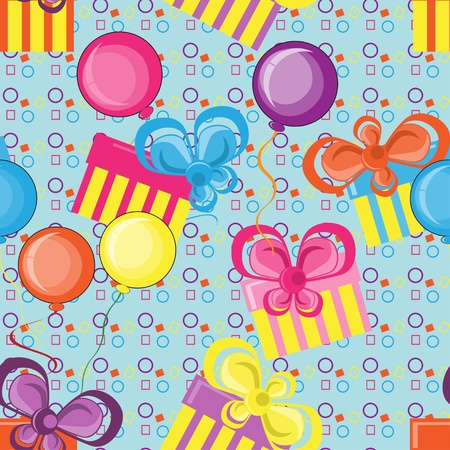 Abstract  pattern with gifts and balloons Vector