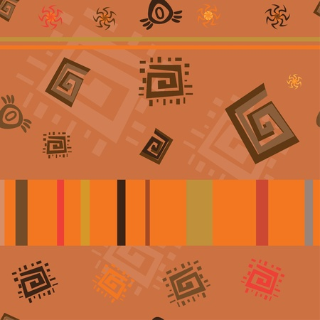 African theme abstract repeated ornament Vector