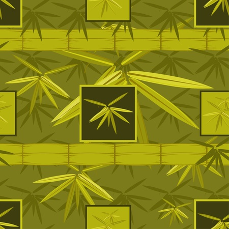 Seamless pattern with bamboo Vector