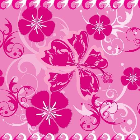 Seamless Pink Hawaii Pattern Stock Vector - 9615106