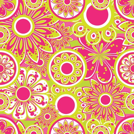 floral fabric: Flower seamless background Illustration