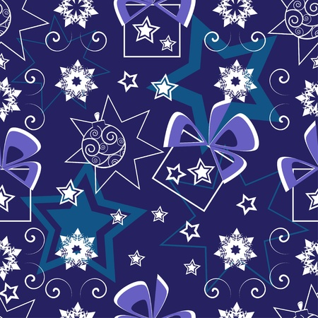 Seamless pattern with balls and stars  Vector