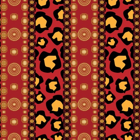 Africa stile ornament background Vector