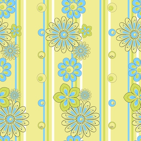 yellow daisy: Abstract flower seamless pattern