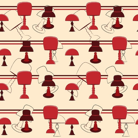 Lamps seamless pattern  Vector