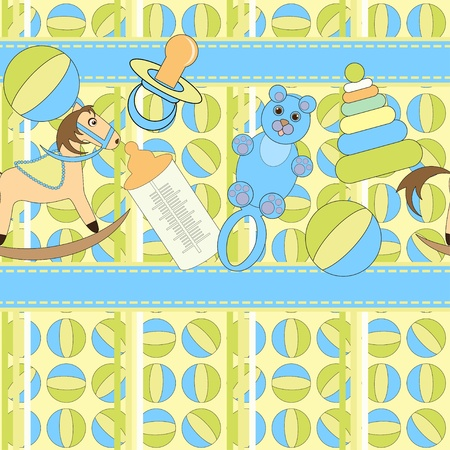 Background with toys for babies Vector