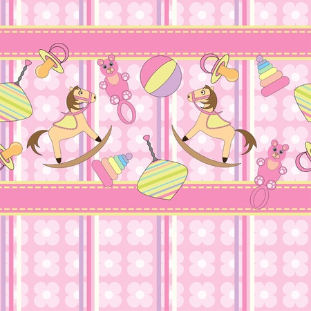 Seamless pattern with cute toys