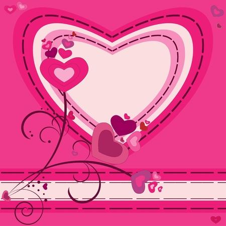 Valentine motives greeting card Illustration