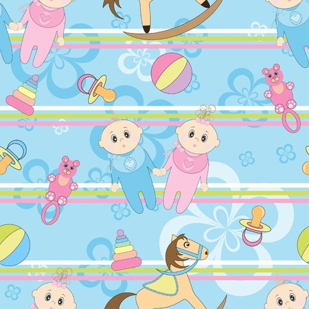 Baby seamless background  Vector