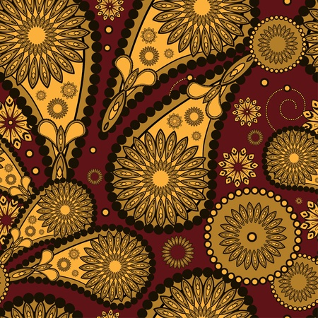 Abstract seamless paisley pattern  Vector