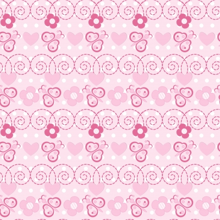 Butterfly and flower seamless pattern  Vector