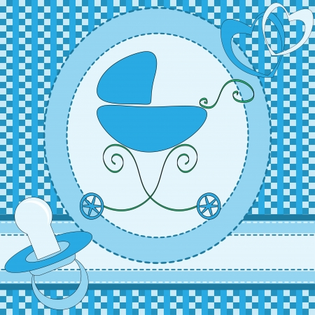 Baby boy greeting card Vector