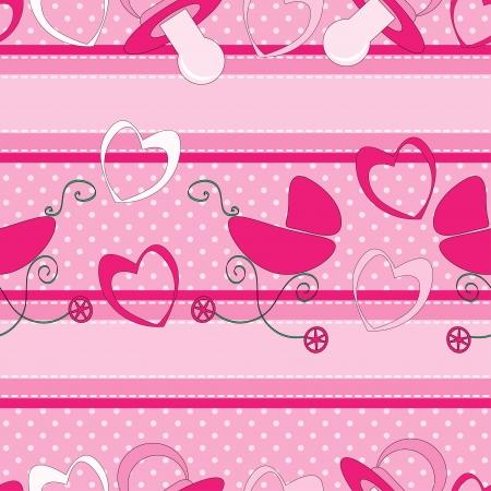 Seamless pattern for little girl Vector
