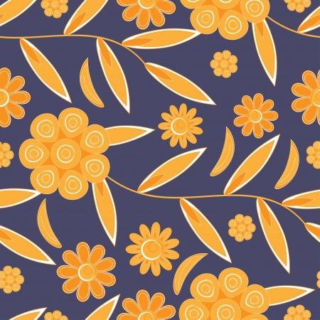Flower pattern seamless background  Vector