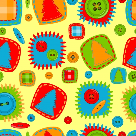 Seamless pattern for babies  Vector