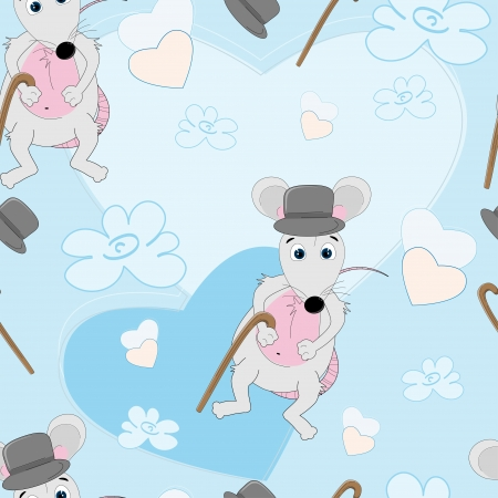 Cute mouse seamless pattern for baby  Vector