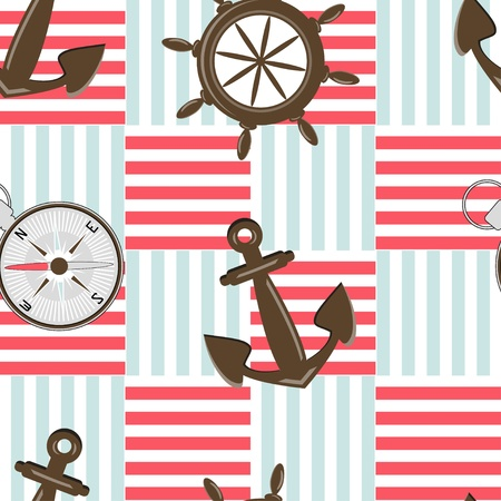 Seamless background with sea motives Vector