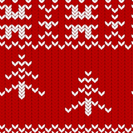 purl: Christmas and New Year folklore seamless pattern
