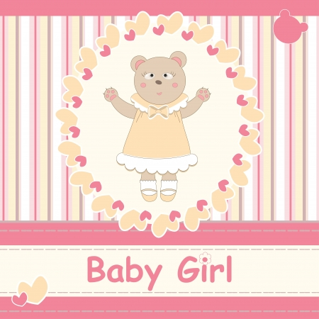 Baby shower invitation with bear Vector