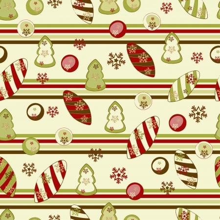 Noël et Nouvel An motif transparente avec les décors. Illustration