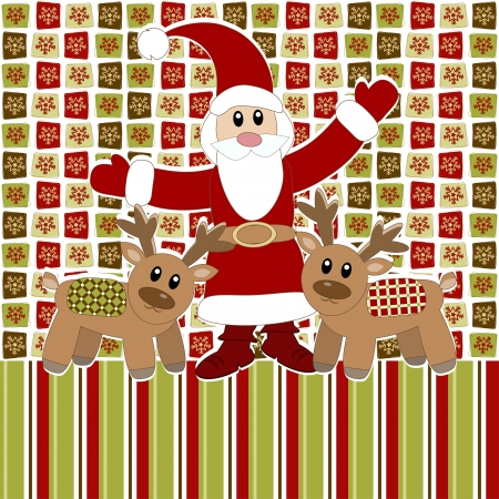 Merry Christmas and Happy New Year Card  Stock Vector - 16491411