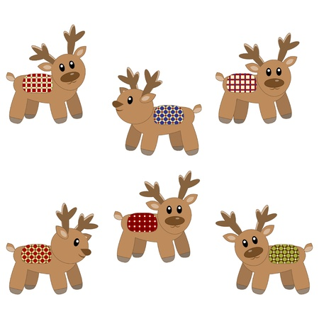 Cute deers pattern Vector