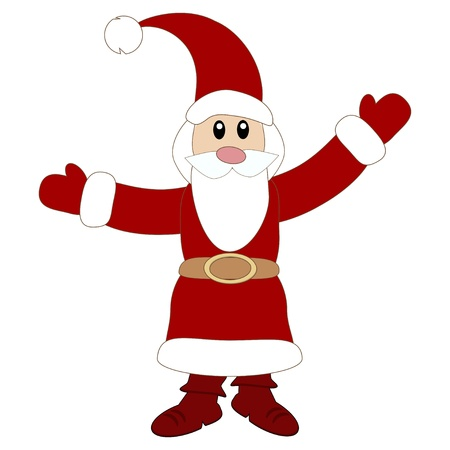 Cute Santa Claus Illustration
