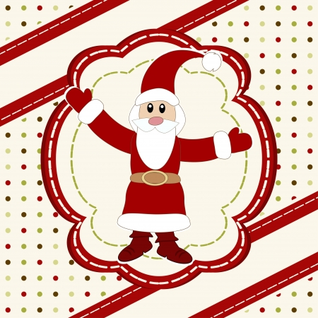 Merry Christmas and Happy New Year Card with Santa Claus  Stock Vector - 16687571