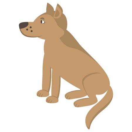 sit stay: Cartoon dog pattern. Vector illustration