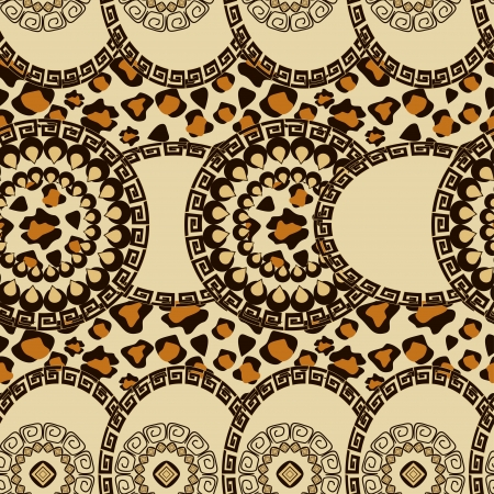 primitive: African style seamless with cheetah skin pattern