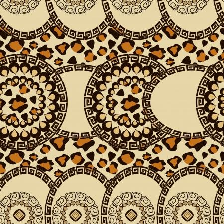 aborigine: African style seamless with cheetah skin pattern