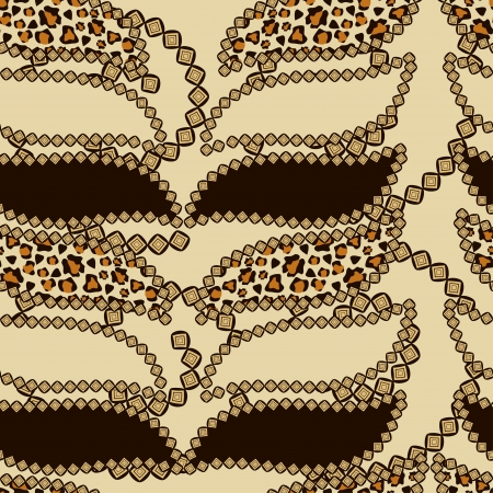 African style seamless with cheetah skin pattern Stock Vector - 17189480