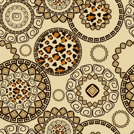 primitives: African style seamless with cheetah skin pattern