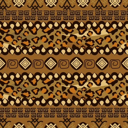 yellow african: African style seamless pattern with wild animals skin