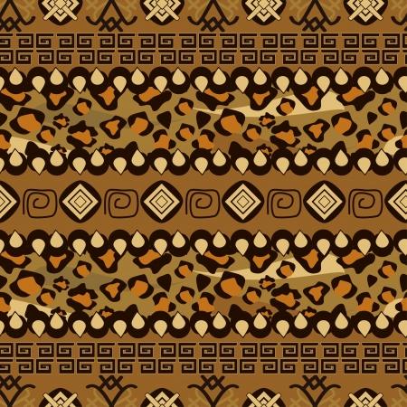aborigine: Patr�n de estilo africano perfecta con la piel de animales salvajes
