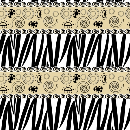 African style seamless with zebra pattern  Illustration